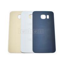 100 ADET Orijinal Pil Geri Konut Kapak Cam Kapak Samsung Galaxy için S6 G920f S6 Kenar Artı G925f Not Yapıştırıcı ile 5 N920f Sticker
