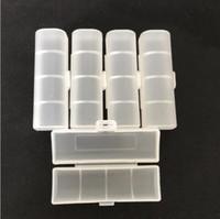 단일 팩 18650 배터리 케이스 플라스틱 투명 하드 화이트 배터리 케이스 홀더 보관함 컨테이너 18500 18350 배터리 홀더 박스