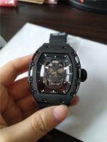 새로운 도착 남자 시계 스포츠 스타일의 최고 품질 남성 시계 기계식 손목 시계 두개골 검은 색 고무 스트랩 021로 전화를 걸