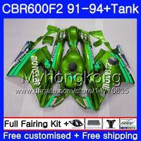 Corps pour HONDA Movistar vert CBR 600 F2 FS CBR600 F2 1991 1992 1993 1994 1MY48 CBR600FS CBR 600F2 CBR600RR CBR600F2 91 92 93 94