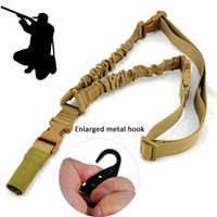 Comercio al por mayor Nuevo Tactical One Single 1 Punto Bungee Rifle Gun Sling Airsoft correa de longitud ajustable con clip de metal agrandado envío gratis