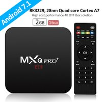 Новый MXQ Pro + Android TV Box 2GB 16GB Android 7.1 RK3229 Quad Core WiFi Streaming Media Player Smart Media Plaer Лучше MXQ Pro S905W