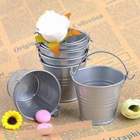 Verzinkte Metall-Eimer-Party bevorzugt Dekoration, Mini-Pflanzgefäße-Doseimer, Mini-Eimer-Hochzeitsfest