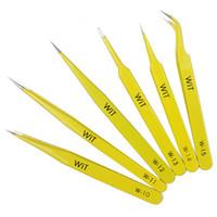 1 st Wit Yellow Anti-Static Pinzers Super Sharp för reparation av klämspänningsverktyg