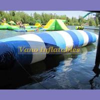 8x3 متر نفخ فقاعة الماء القفز لعب المياه النقط القفز حقيبة 0.9 ملليمتر pvc نفخ القفز وسادة شحن مجاني