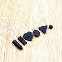 6 Стили Сердце Любовь Лава Камень Ожерелья Эфирное Масло Диффузор Вулканический Рок Кулон Ожерелье Женщины Ювелирные Изделия