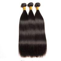 도매 학년 10A 브라질 버진 헤어 확장 스트레이트 인간의 머리카락 100 % 처리되지 않은 3 번들 머리 직조 무료 배송 뜨거운 판매