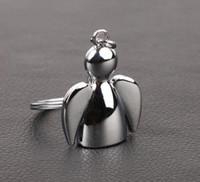 Projeto criativo Lindo anjo keychain homens mulheres chave titular cadeia anel de carro saco pingente de charme Presentes de casamento SN2189