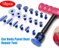 Gratis Verzending Professionele 18 stks T-Bar Auto Body Panel Paintless Dent Removal Reparatie Lifter Tool + Puller Tabs Autoto Moto Damage Removal