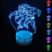 Dragon Ball Z Goku VS Jiren Luminaria 3D Night Lights Color ...