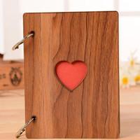 6 дюймов творческий сердце дерево фоторамка мода выпускной фотоальбом рамки украшения Главная ремесла фоторамки аксессуары QW7567