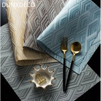 DUNXDECO PLACEMAT PVC Plate Mat Waterproof Oil Proof Home De...