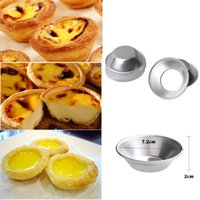7CM Egg Tarts Mould Reusable Round Aluminum Alloy Molds for ...
