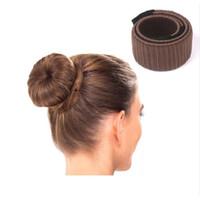 8 Cores DIY Fácil Bun Makers Cabelo Tranças Elásticas Hairband Donuts Chignon Magique Magia Styling Ferramentas de Cabelo 8 PCS ATACADO