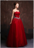 2018 Sexy Red Crystal Ball Gown Quinceanera Dresses With Seq...