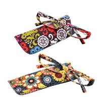 Gafas de lectura impresas Spring Bisagra Gafas de lectura presbicia rectangulares con bolsa a juego +1.0 1.5 1.75 2.25