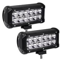 12 V 24 V LED Light Bar 7 pollici 36 W Luce di inondazione Spot di guida condotto fuori luci stradali per fuoristrada Jeep fuoristrada camion auto ATV barche