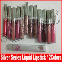 New Cosmetics Silver Series Matte liquid Lipstick 12 Colors ...