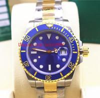 Orologi da polso di lusso 40mm 116613 116613LB 116613LN Data Ceramic 18k Gold Steel Due toni Asia 2813 Movimento Mens Automatic Watch Watch