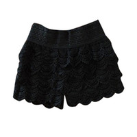 Summer Fashion Womens Shorts Sweet Lace Crochet Elastic Wais...