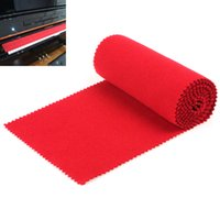 Red Soft Nylon+ Cotton Piano Keyboard Dust Cover for Any 88 K...