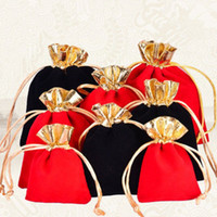 Velvet Drawstring Pouches Jewelry Packaging Christmas Weddin...