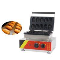 BEIJAMEI 10 adet / saat Elektrik Yumurta Shape Waffle makinesi / Ticari Waffle Çubuk Maker / yumurta waffle makinesi makinesi