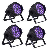 MFL은 18PCS 업그레이드 * 18w (6in1) RGBWA + UV 6 / 10CH LED 파 캔 DJ 바 조명 무대 파 라이트 콘서트에 대한 Churth 파티 (4 팩)