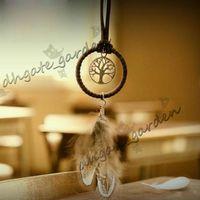 Mini Dreamcatcher Handmade Dream Catcher Net Com Pena Decoração Ornamento Diâmetro 3.5 cm Artesanato Presente