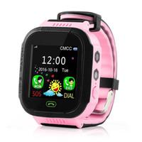 Y21S GPS relógio inteligente Anti-Lost Lanterna do bebê inteligente Relógio de pulso SOS Chamada Localização dispositivo rastreador Safe Kids melhor do que DZ09 U8 relógio inteligente