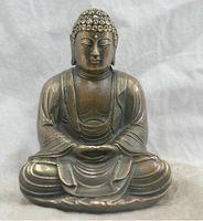 Frete grátis Chinês Folk Cultura Handmade Bronze Estátua de Bronze Sakyamuni Buda Escultura transporte rápido