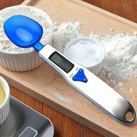 جديد المحمولة led الموازين الإلكترونية 300 جرام 500 جرام / 0.1 جرام قياس ملعقة الغذاء حمية البريدي المطبخ الرقمية الالكترونية ملعقة الوزن الموازين 30 قطع dhl