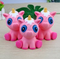 Slow Rising Squishy PU Simulation Unicorn Pink Pony Powder K...