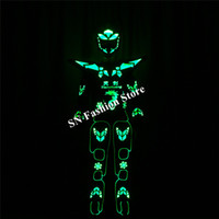 TC- 183 Programming led costumes ballroom dance robot costume...