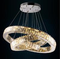 LED 크리스탈 샹들리에 가벼운 현대 LED 서클 샹들리에 램프 매달려 lustres 링 조명 홈 장식
