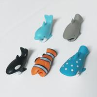 Cute Animal Biss USB-Ladegerät Datenschutzabdeckung Mini Drahtschutz-Kabel-Schnur-Telefon-Zubehör kreative Geschenke Multi Designs