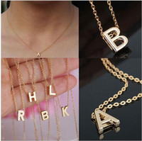 whole saleGold Color with A- S Letter Charms Pendant Collar N...