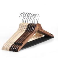 أرخص!!! الشماعات الخشبية الطبيعية دعوى الشماعات معطف الشماعات الملابس تضيء ملابسك والحياة 44 * 22.5cm