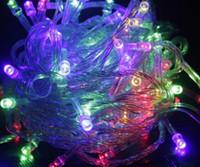 Led árvore de natal cadeia luz pisca-pisca luzes da árvore de natal decoração lâmpada multicor 10 metros
