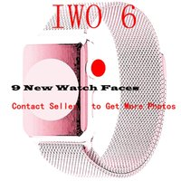 Smart Watch IWO 6 42mm SmartWatch Stainless Steel Shining Ca...