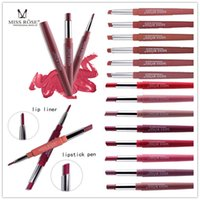 Miss Rose makeup lipstick & lip liner Double- end lip gloss L...
