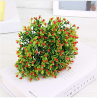 홈 인테리어 밀라노 인공 꽃 생생한 가짜 잎 장식 꽃 부케 장식 결혼식