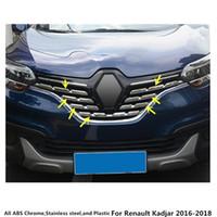 Livraison gratuite pour Renault Kadjar 2017 2018 2018 DÉTENTION DE LA COVÉRATION DE LA CARME DE VOITURE DÉTECTEUR ABS CHROME GRAPION CONVENU GRID Grille Grille autour de 7 pcs