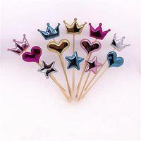 Cake Bandiere Plugged Love Five Pointed Star Crown Cupcake Decorazione di compleanno per bambini Parts Party Bardian Kitchen Tools 1 1lj dd