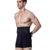 IYUNYI Nuovi Uomini Vita Alta Body Shaper Compressione Pancia Dimagrante Biancheria Intima Pantaloncini Butt Lifter Cotone Mutandine di controllo