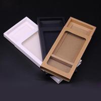 Kraft Packaging Cartulina Caja deslizante Kraft Embalaje Regalo Caja de artesanía con ventana PVC Papel Caja de dibujar regalo QW8687