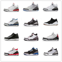 2018 New Arrival Jumpman 3 III Black White Fashion Casual Ba...