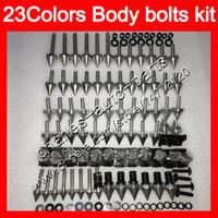 Kit de tornillos completos de tornillos de carenado Para YAMAHA YZFR1 00 01 02 03 YZF R1 YZF1000 YZF-R1 2000 2001 2002 2003 Tuercas del cuerpo tornillos kit de tornillos de tuerca 25 colores