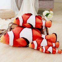 Clown Fish Plush Toy Stuffed Clown Fish Doll 7. 8in. Creative...