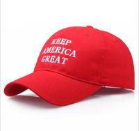 Chapeau rouge d'atout Keep America Grand régler les casquettes de sport Donald Trump Casquette de baseball républicain cadeau de Noël